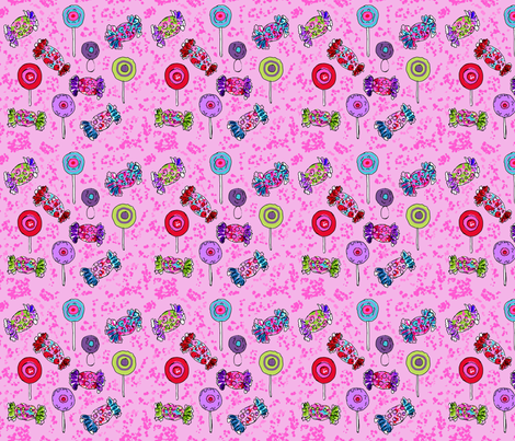 The YummiestFirst Birthday Party Bonbons fabric by rosannahope on Spoonflower - custom fabric