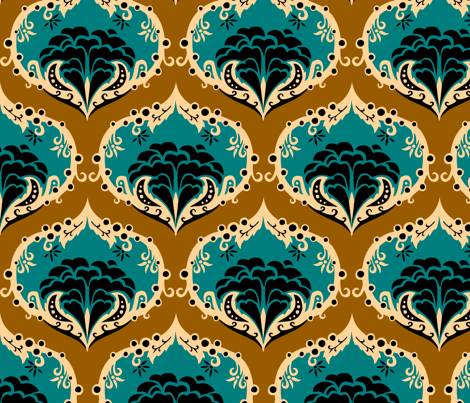 shadesofgreydamask1 fabric by renule on Spoonflower - custom fabric