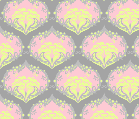 shadesofgreydamask2 fabric by renule on Spoonflower - custom fabric