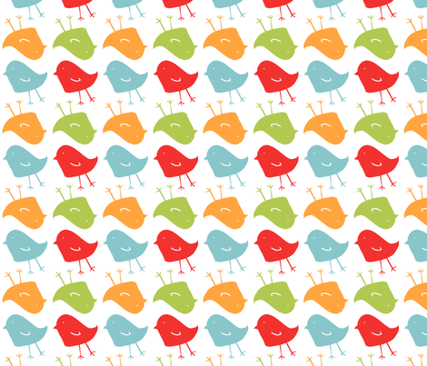 Chicks, Multi - Spring Picnic fabric by natalie on Spoonflower - custom fabric