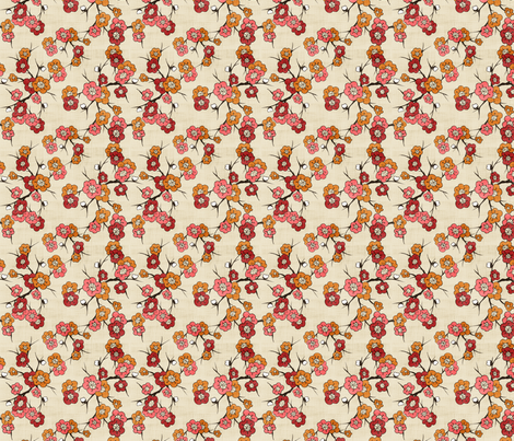 Lani, Pink Fire fabric by natalie on Spoonflower - custom fabric