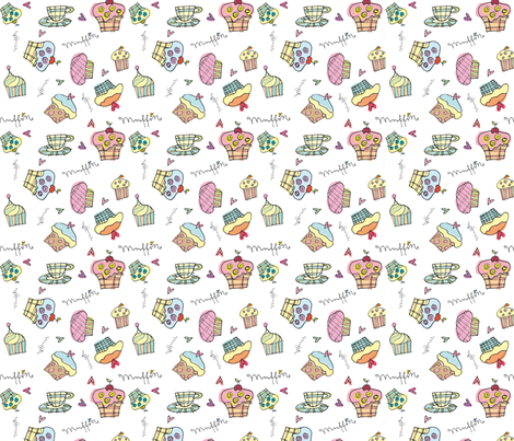 muffins fabric by musterartig on Spoonflower - custom fabric