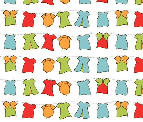Clothesline - Spring Picnic fabric by natalie on Spoonflower - custom fabric