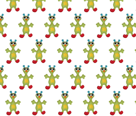 Arni the Alien fabric by feltlikestitchin on Spoonflower - custom fabric