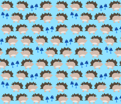 Rockin' Hedgehogs fabric by petunias on Spoonflower - custom fabric