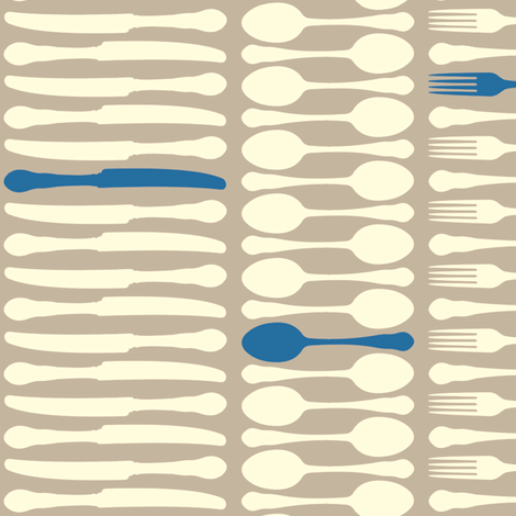 SetTheTableStripes-Blue fabric by tammikins on Spoonflower - custom fabric