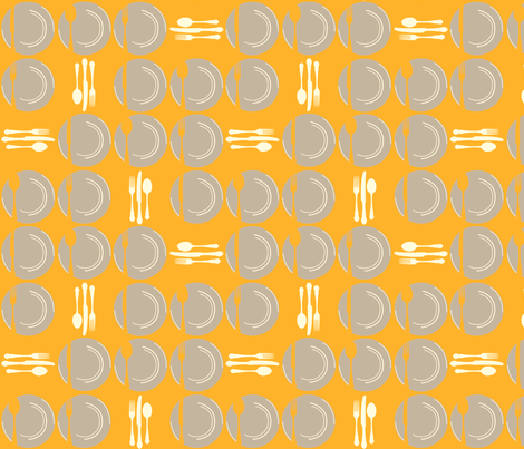 SetTheTableDots-Orange fabric by tammikins on Spoonflower - custom fabric