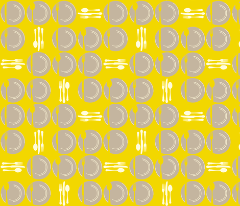 SetTheTableDots-Yellow fabric by tammikins on Spoonflower - custom fabric