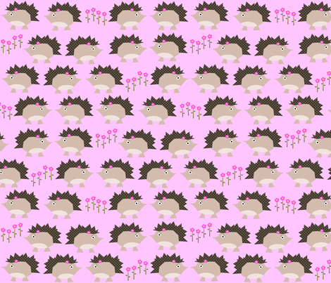 Sweet Hedgehogs fabric by petunias on Spoonflower - custom fabric