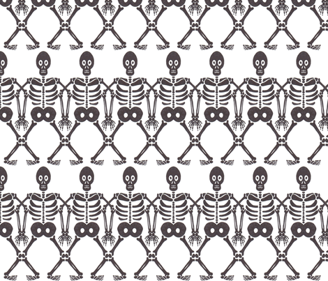 boneman line up fabric by zomo on Spoonflower - custom fabric