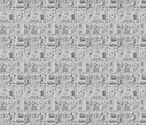 African Amer Inventions-Grey-120 fabric by kkitwana on Spoonflower - custom fabric