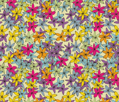Flowers fabric by lydia_meiying on Spoonflower - custom fabric