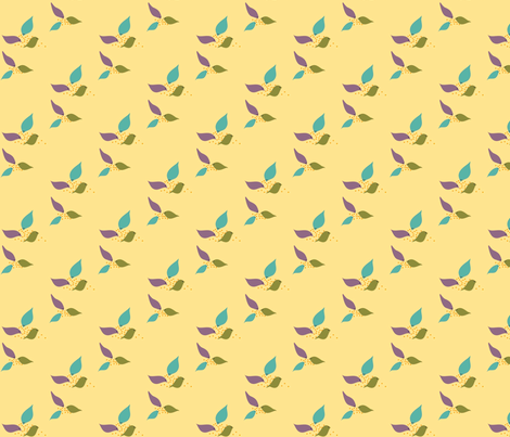 heathered_birds-ed fabric by vo_aka_virginiao on Spoonflower - custom fabric