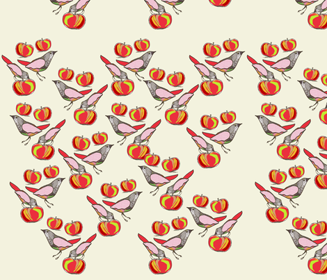 applebirds fabric by nadja_petremand on Spoonflower - custom fabric