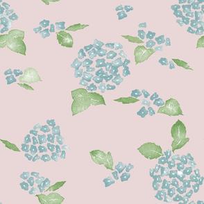 Hydragenia - Dusty Pink and Blue