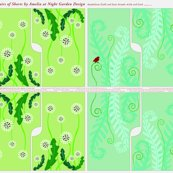 Rrshorts.dandelion_field_and_fern_fronds_with_red_bird_shop_thumb