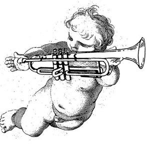 Wieckenberger Trompetenengel, schauend