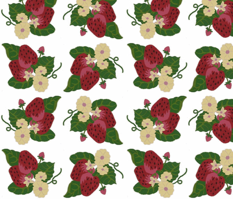 Strawberry Patch fabric by kdl on Spoonflower - custom fabric