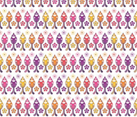 Vogel & Petunia fabric by fleckchenerde on Spoonflower - custom fabric