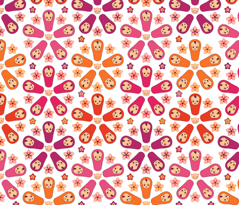 Tarako Kewpie, Petunia & Katze fabric by holli_hoop on Spoonflower - custom fabric
