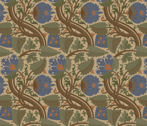 Damask 6b fabric by muhlenkott on Spoonflower - custom fabric