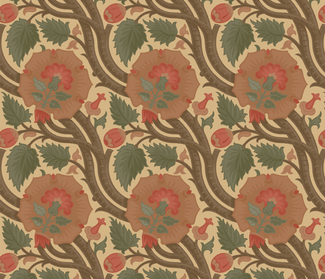 Damask 8b fabric by muhlenkott on Spoonflower - custom fabric