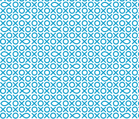 Tic-tac-toe fish fabric by marmota-b on Spoonflower - custom fabric