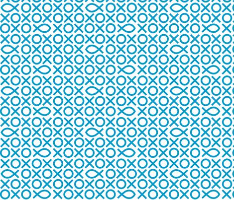 Tic-tac-toe fish fabric by marmota-b on Spoonflower - custom fabric