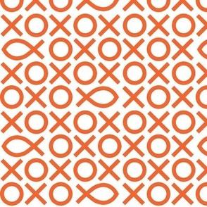 Tic-tac-toe fish - orange