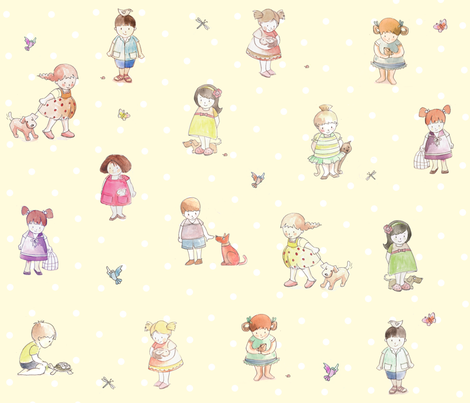 children_cartoon fabric fabric by daniellehanson on Spoonflower - custom fabric