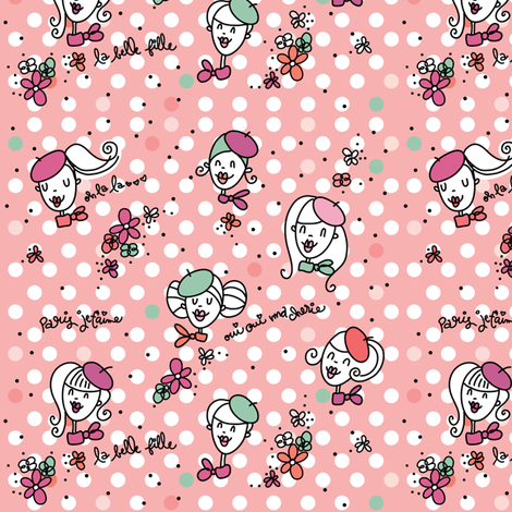La petite cartoon fabric by cynthiafrenette on Spoonflower - custom fabric