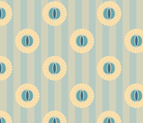 FloralFlourishe-Blue fabric by tammikins on Spoonflower - custom fabric