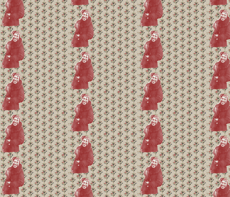 Zora Neale Hurston and Bottle Trees-128 fabric by kkitwana on Spoonflower - custom fabric