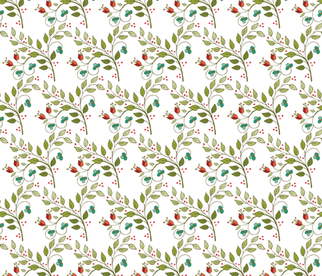 Floral Lattice-white fabric by leslipepper on Spoonflower - custom fabric