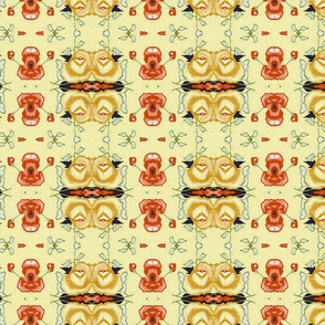 Vintage_china-_Orange_Poppy_wallpaper
