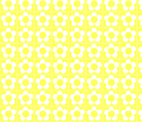 Yellow Daisy fabric by p&e_designs on Spoonflower - custom fabric