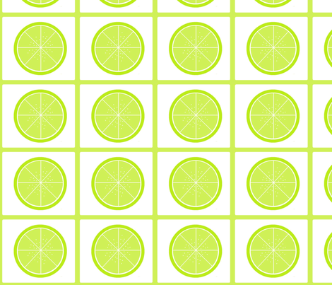 Summer Lime fabric by asset68 on Spoonflower - custom fabric