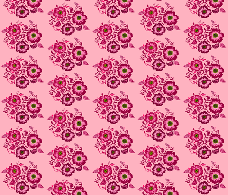 Wild Pink Bouquent fabric by renule on Spoonflower - custom fabric