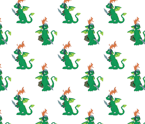 Nika's Dragons fabric by shout4joy2thelord on Spoonflower - custom fabric