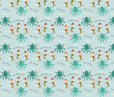 Mythical Sea Hooping fabric by ifneedb on Spoonflower - custom fabric