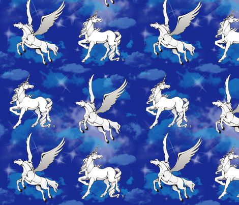 Fantasy in the Sky fabric by lacefairy on Spoonflower - custom fabric