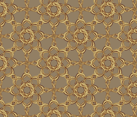 Rosettes Grand - Fawn © Kristopher K 2009 fabric by kristopherk on Spoonflower - custom fabric