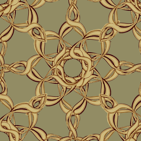 Rosettes Grand - Moss © Kristopher K 2009 fabric by kristopherk on Spoonflower - custom fabric
