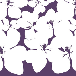 Magnolia Little Gem - Purple - 2 Yard Panel