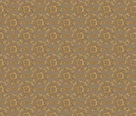 Rosettes Petite - Fawn fabric by kristopherk on Spoonflower - custom fabric