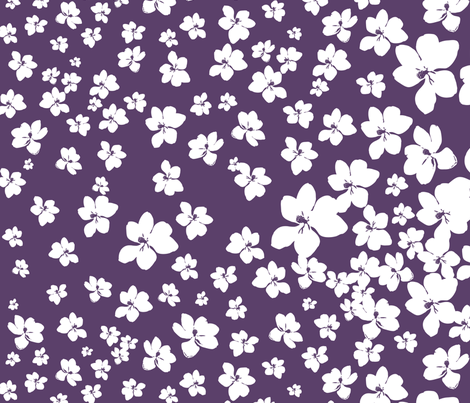 Magnolia Little Gem - Purple - 1 yard panel