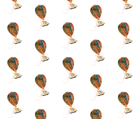 Hot Air Balloon Dream fabric by karenharveycox on Spoonflower - custom fabric
