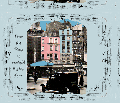 I hear that Paris is Wonderful... fabric by karenharveycox on Spoonflower - custom fabric