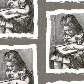 For The Love of old Books, little girl