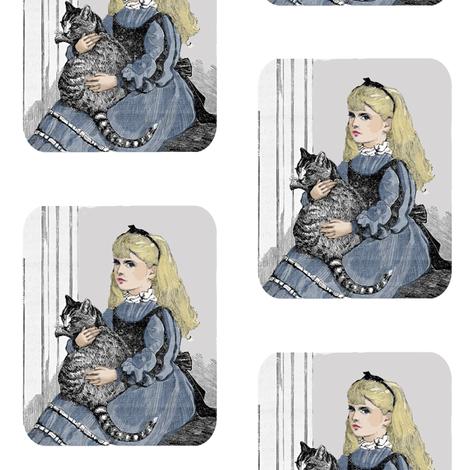 Alice and Dinah fabric by karenharveycox on Spoonflower - custom fabric